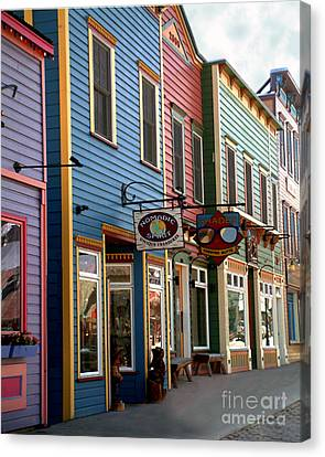 The Shops In Crested Butte Canvas Print by RC DeWinter