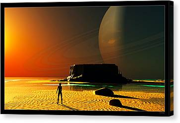 The Shore Of The Cupric Seas... Canvas Print by Tim Fillingim