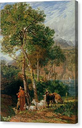 The Shores Of Lake Lecco Canvas Print