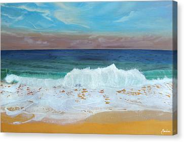 The Shores Of Love Beach Canvas Print by Maritza Tynes