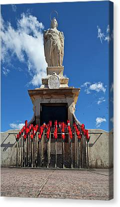 The Shrine To St Raphael At Whose Feet Canvas Print by Panoramic Images