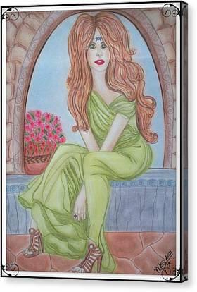 The Sibyl - Grecian Goddess Canvas Print by Absinthe Art By Michelle LeAnn Scott