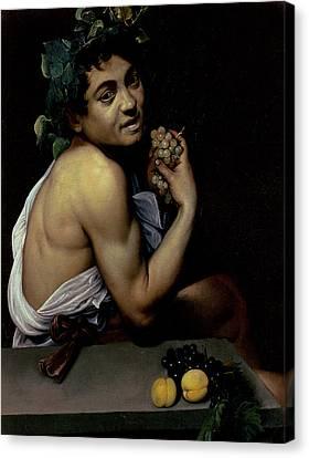 The Sick Bacchus, 1591  Canvas Print by Michelangelo Merisi da Caravaggio