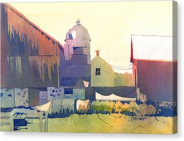 The Side Of A Barn Canvas Print by Kris Parins