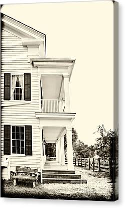Side Porch Canvas Print - The Side Of The House by Margie Hurwich