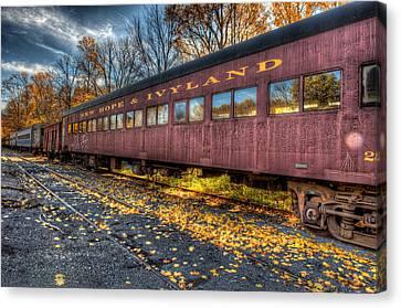 Rail Siding Canvas Print - The Siding by William Jobes