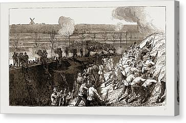 The Siege Operations At Chatham Canvas Print by Litz Collection