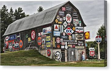 The Sign Barn Canvas Print by Ricky L Jones
