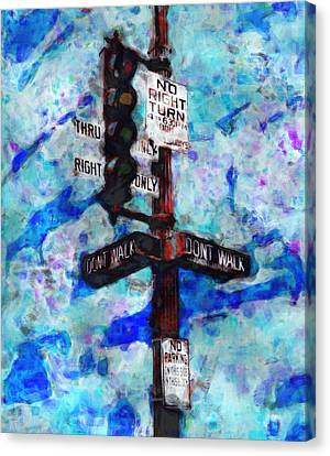 The Signal Canvas Print by Jack Zulli