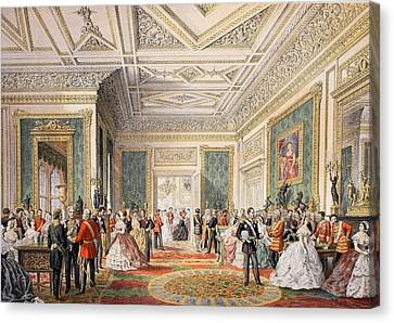 The Signing Of The Marriage Attestation Canvas Print by English School