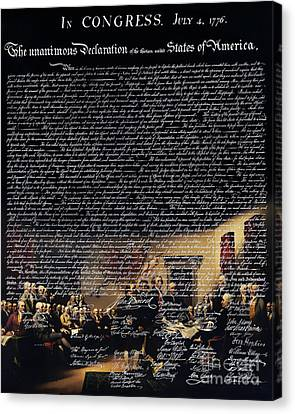 The Signing Of The United States Declaration Of Independence V2 Canvas Print by Wingsdomain Art and Photography