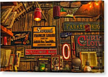 Vintage Sign Room Canvas Print by Thom Zehrfeld
