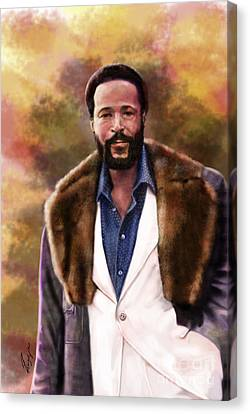 The Silky Silky Soul Singer - Marvin Gaye  Canvas Print by Reggie Duffie