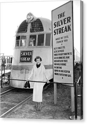 The Silver Streak Train Canvas Print by Underwood Archives