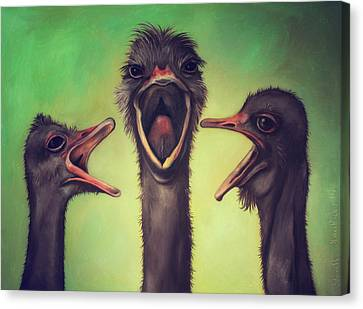 Emu Canvas Print - The Singers by Leah Saulnier The Painting Maniac