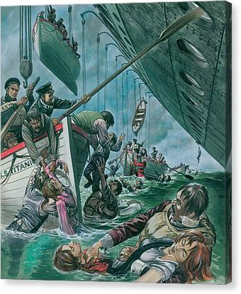Rowboat Canvas Print - The Sinking Of The Titanic by Peter Jackson