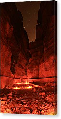 The Siq -- Petra Canvas Print by Stephen Stookey