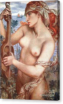 The Siren Canvas Print by Dante Charles Gabriel Rossetti