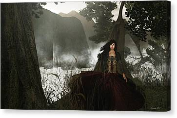 The Siren's Isle Canvas Print by Amanda Holmes Tzafrir
