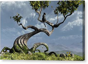 The Sitting Tree Canvas Print by Cynthia Decker