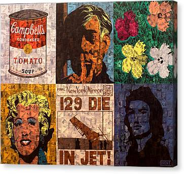 The Six Warhol's Canvas Print by Brent Andrew Doty