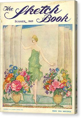The Sketch Book 1925 1920s Uk Womens Canvas Print by The Advertising Archives