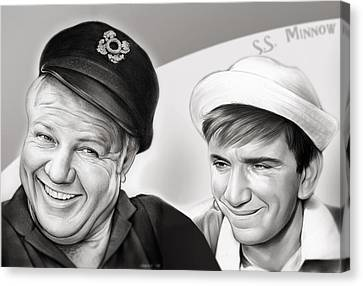 The Skipper And Gilligan Canvas Print by Greg Joens