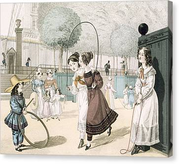 Hoops Canvas Print - The Skipping Game, Plate 115 From Le by French School