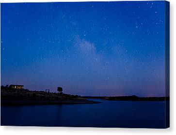 The Sky And The Lake Canvas Print by Alexandre Martins