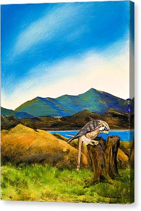 Canvas Print featuring the painting The Sky Is The Limit by Susan Culver