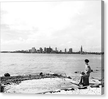 The Skyline Of Miami Canvas Print by Underwood Archives
