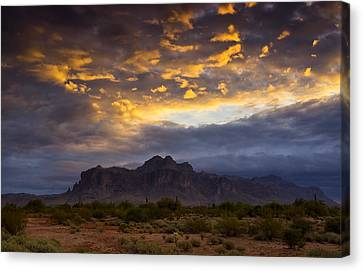 The Sky's Aglow  Canvas Print