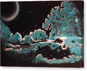 Canvas Print featuring the drawing The Skys The Limit by Joseph Hawkins