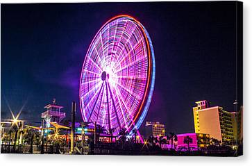 Canvas Print featuring the photograph The Skywheel by Rob Sellers