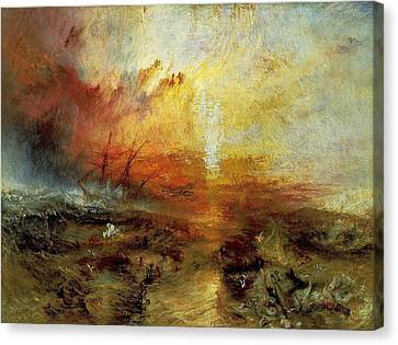 The Slave Ship Canvas Print by J M W Turner