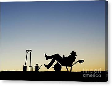 The Sleeping Gardener Canvas Print by Tim Gainey