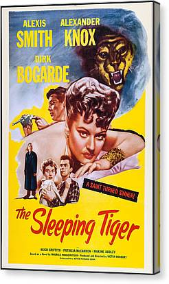 The Sleeping Tiger, Us Poster, Alexis Canvas Print by Everett