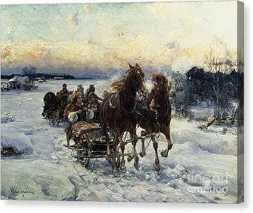 The Sleigh Ride Canvas Print