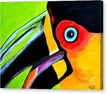 The Smiling Toucan Canvas Print by Claudia Tuli