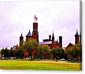 Smithsonian Museum Canvas Print - The Smithsonian by Bill Cannon