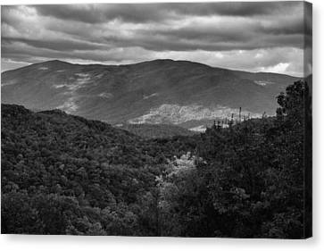 The Smokies In Black And White Canvas Print by Dan Sproul