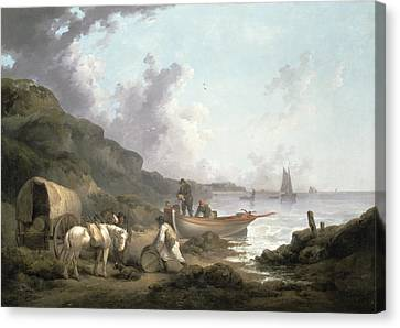 The Smugglers, 1792 Canvas Print by George Morland