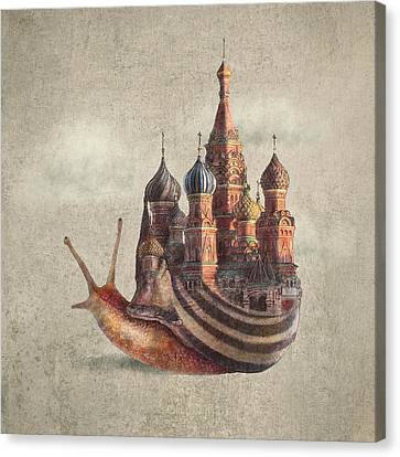 The Snail's Daydream Canvas Print by Eric Fan