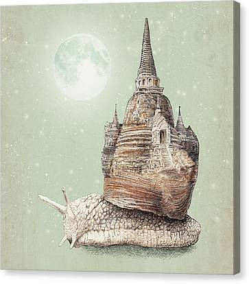 Surreal Canvas Print - The Snail's Dream by Eric Fan