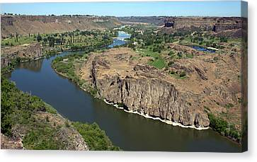 The Snake River Canyon Idaho Canvas Print