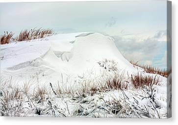 The Snow Dunes Canvas Print by JC Findley