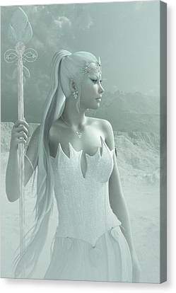 The Snow Queen Canvas Print by Melissa Krauss