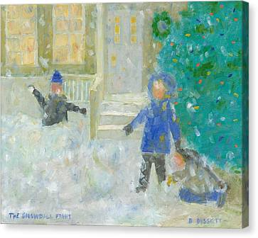 The Snowball Fight Canvas Print