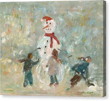 The Snowman Canvas Print by David Dossett