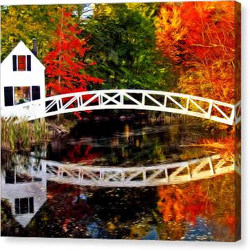 The Somesville Bridge Canvas Print by Bill Howard